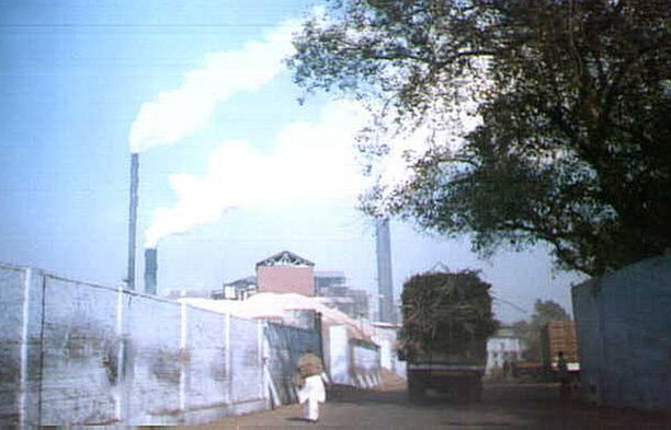 Daurala Sugar works at the height of the crushing season