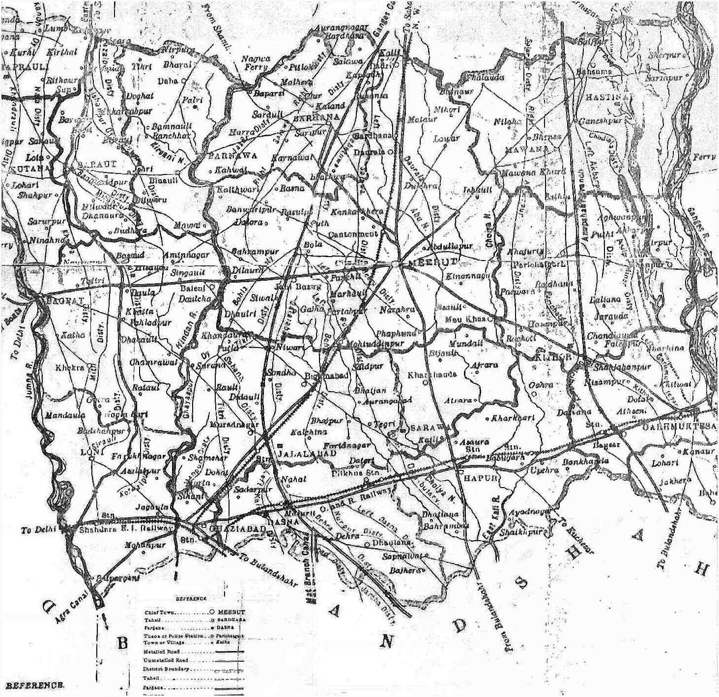 Meerut India Map.Meerut Pictures And Text About A Town In North India